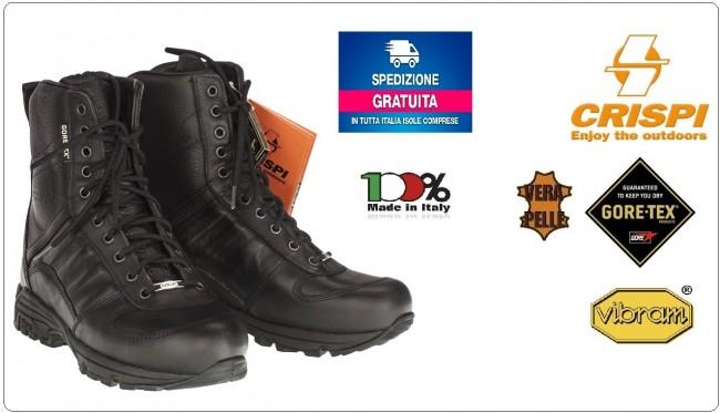 Anfibi Stivale Stivaletto Militari S.W.A.T. EVO HTG Vibram CSF CRISPI GORE-TEX®  Prodotto Italiano Art.4516399