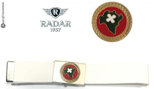 Cintura Canapa Bianca Regione Lombardia Polizia Locale Metallo 3D Radar1957 Art. C-7076-8019