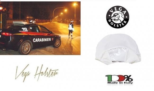 Copri Berretto Copriberretto Alta Visibilità Bianco Carabinieri Polizia Vigilanza Vega Holster Italia Art. 7AR700