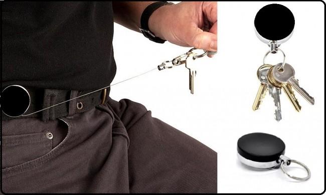 41527285d8 Portachiavi Porta Chiavi Retrattile con Clip da Cintura Guardie Giurate  Vigilanza Polizia Carabinieri Guardia di Finanza ...