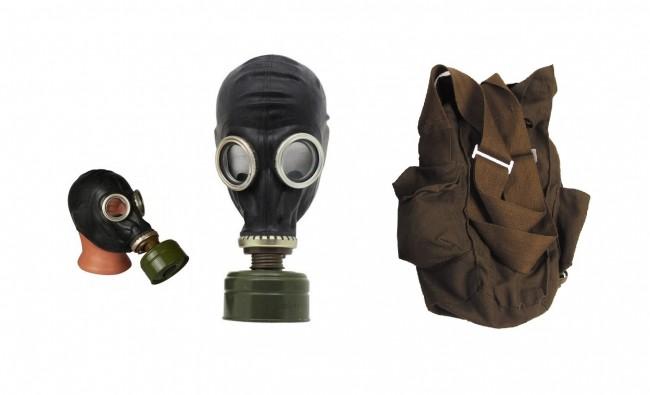 Maschera Antigas Russa Originale con Filtro GP5 Collezione Dismissioni Militari Modello Colore Nero Art. 627631-N