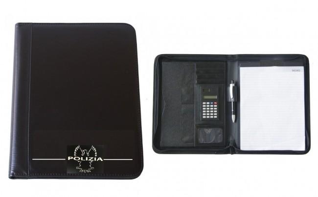 Cartella Pattuglia Porta Blocco Portadocumenti Polizia di Stato Verbali Pattuglia LIBERA VENDITA Art.10865-PS