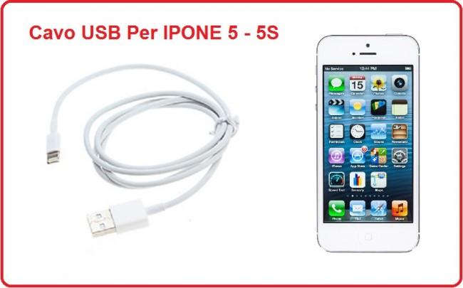 Cavo USB 2.0 per Ricaricare IPHONE 5 - 5S Art.IPONE-1