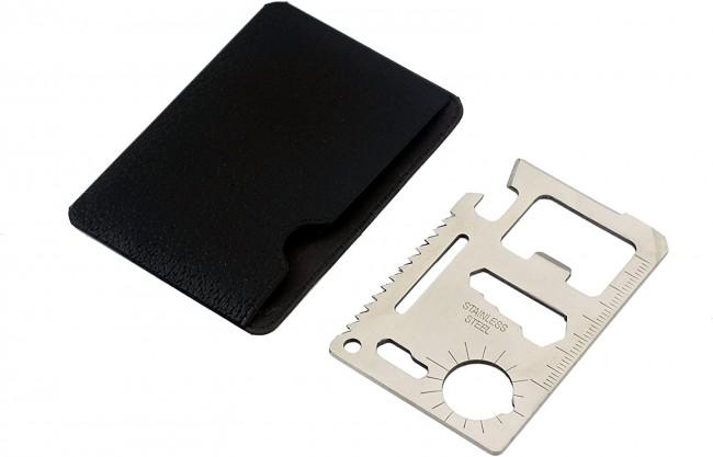 Survival Tool Card  Carta Emergenza Soccorso Nero Vari Accessori FINE SERIE Art. 453220