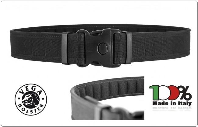 Cinturone in Cordura Professionale Sicurezza 3 Punti  Imbottito Vega Holster Colore Disponibile Nero O Blu  Art.2V31