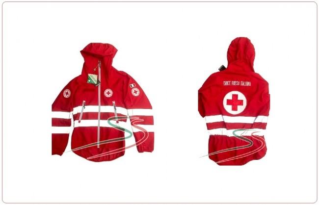 """Giubbino Impermeabile """"guscio"""" tipo K-Way Croce Rossa Italiana Art.CRI-GU"""