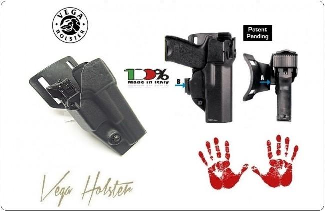 Fondina Polimero Stampato Professionale Shockwave Duty Polizia Vigilanza Carabinieri Vega Holster Italia Art.SHWD8