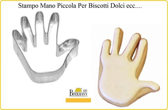 Stampino Mano Piccola Acciaio per Alimenti - Biscotti Torte Pasticcini RBV Birkeman Art.122659