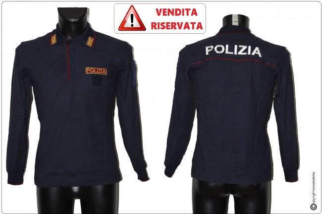 Polo Operativa Manica Lunga POLIZIA DI STATO Cotone 100% VENDITA RISERVATA  PREZZO DI COSTO OFFERTA A TEMPO LIMITATO Art.POLO-PSL