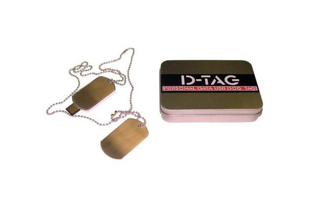 Piastrine Militari Con Chiavetta USB D-Tag Piastrina Digitale Tenere i Dati Medici Sempre con se FINE SERIE Art. 02201