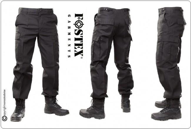 Pantaloni Multitasche OP Neri Personalizabili con Ricamo Art.111211-N
