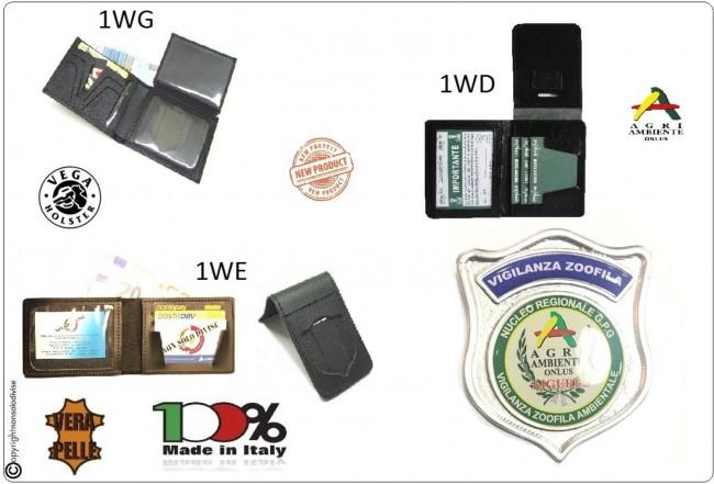 Portafoglio Portadocumenti Placca Staccabile o Fissa GPG I.P.S. AGRI AMBIENTE Guardia Particolare Giurate Incaricato di Pubblico Servizio Novità Art.1WD-1WG-1WE-AGRI