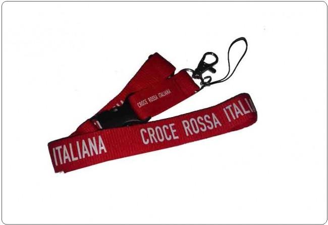 Portachiavi da Collo CRI Croce Rossa Italiana C.R.I. Idea Regalo Comodo Pratico  Art. PCCR