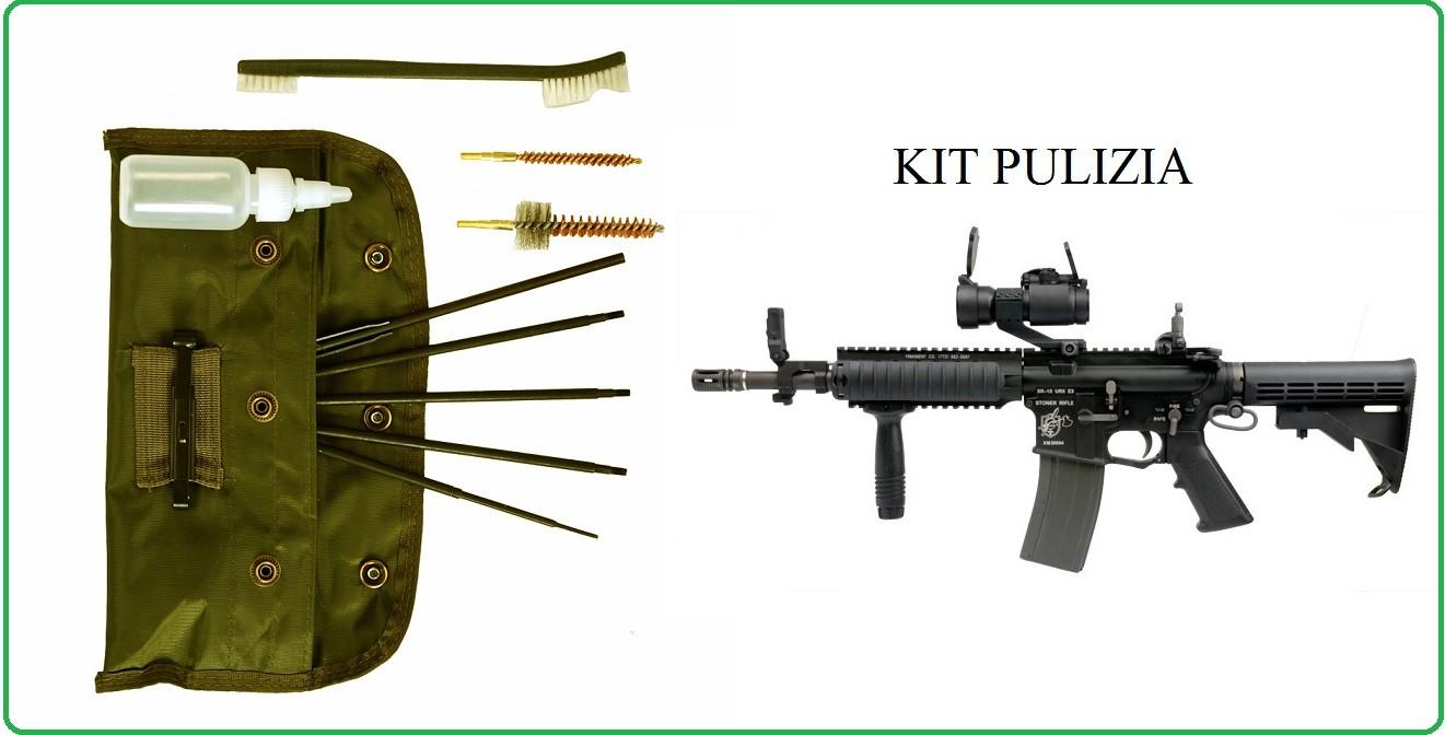 Kit pulizia armi professionale per tutti i calibri completo Fosco Industries