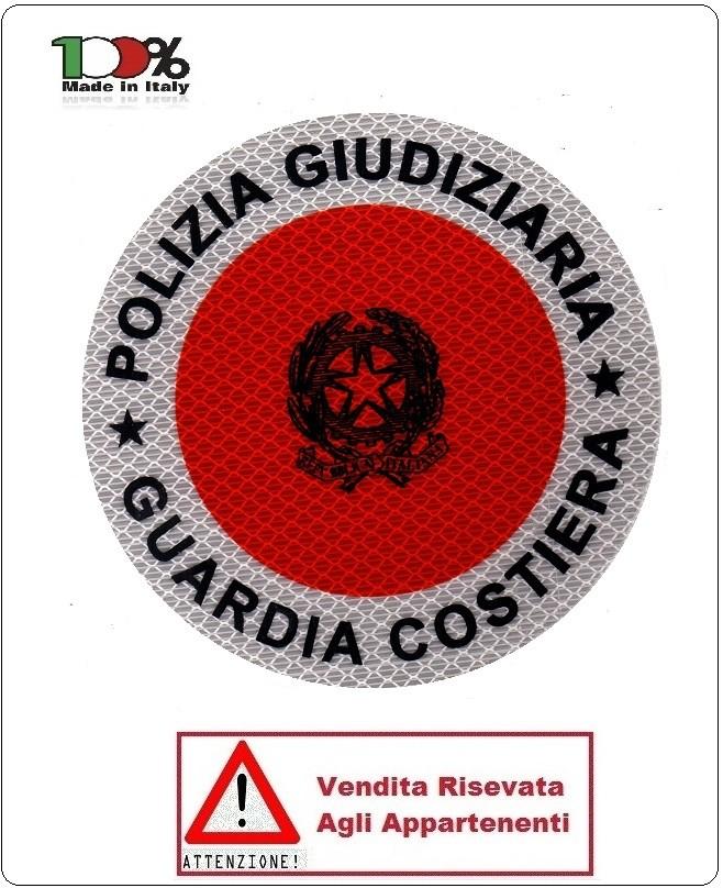 adesivo per paletta rosso polizia giudiziaria guardia