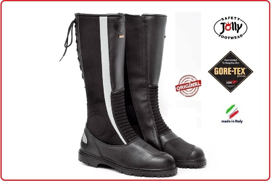 Jolly CROSSTECH Gore-Tex in pelle per Pompieri bikers Rigger Stivali Impermeabili