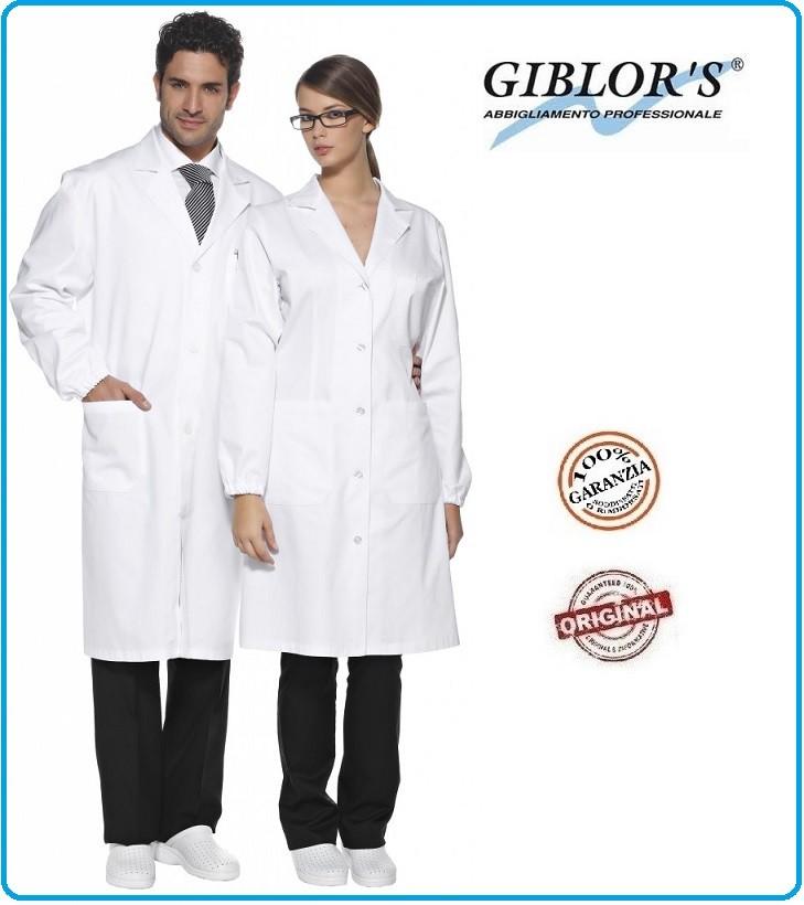 GIBLORS Art.10M1320 Camice Simona da Laboratorio O Medico da Donna Bianco