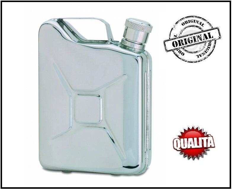 Elegantissma fiaschetta da tasca a forma di tanica porta liquori o whisky 5 oz art b1 - Carrello porta liquori ...