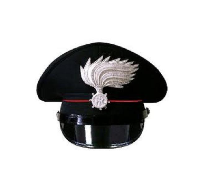 4a335d6cdb5 ... Berretto Ordinanza CC Carabinieri con Fregio Canuttiglia Ricamato Oro o  Argento FAV Autore VENDITA RISERVATA Art ...