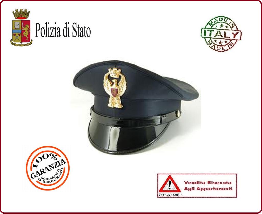 Berretto Tesa Ordinanza Polizia di Stato PS Con Fregio FAV Autore VENDITA  RISERVATA Art.BER-PS-U 2e0691794b84