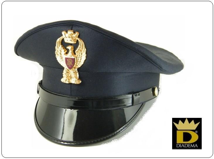 Berretto Ordinanza Tesa Polizia di Stato PS Con Fregio Diadema VENDITA  RISERVATA New Art.DIADEMA-PS f6148bb0d32c