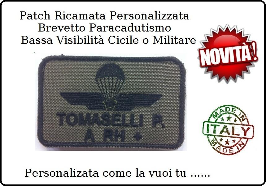 Amato Patch Ricamato Bassa Visibilità Targhette con Nome velcro Brevetto  IG51