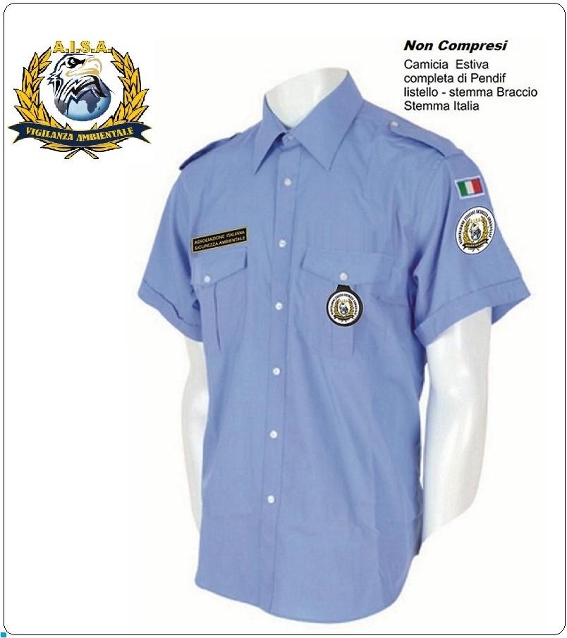 design senza tempo 01db6 a5a61 Camicia Estiva Azzurra Manica Corta con Spalline Militare ...