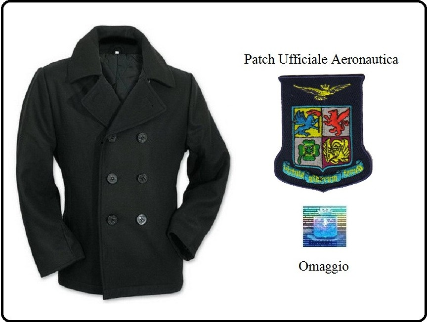 super popular a6bec 7c432 Giacca Giaccone Cappotto Vintage Nero Bottoni Neri + Patch ...