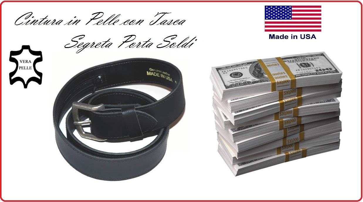 Cintura in cuoio con cerniera portasoldi porta soldi - Rito porta soldi ...