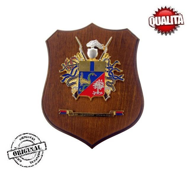 """Crest Da Muro """"1° Araldico CC"""" Ligneo Con Effige In"""