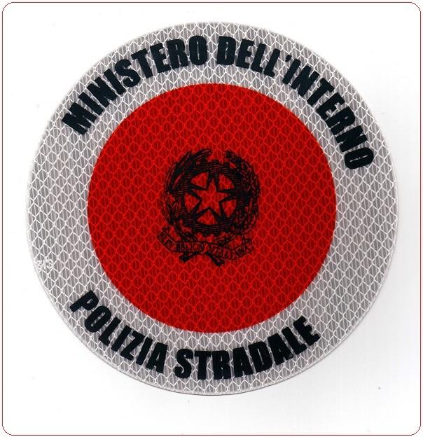 Adesivo per paletta rosso polizia di stato stradale for Ministero interno r