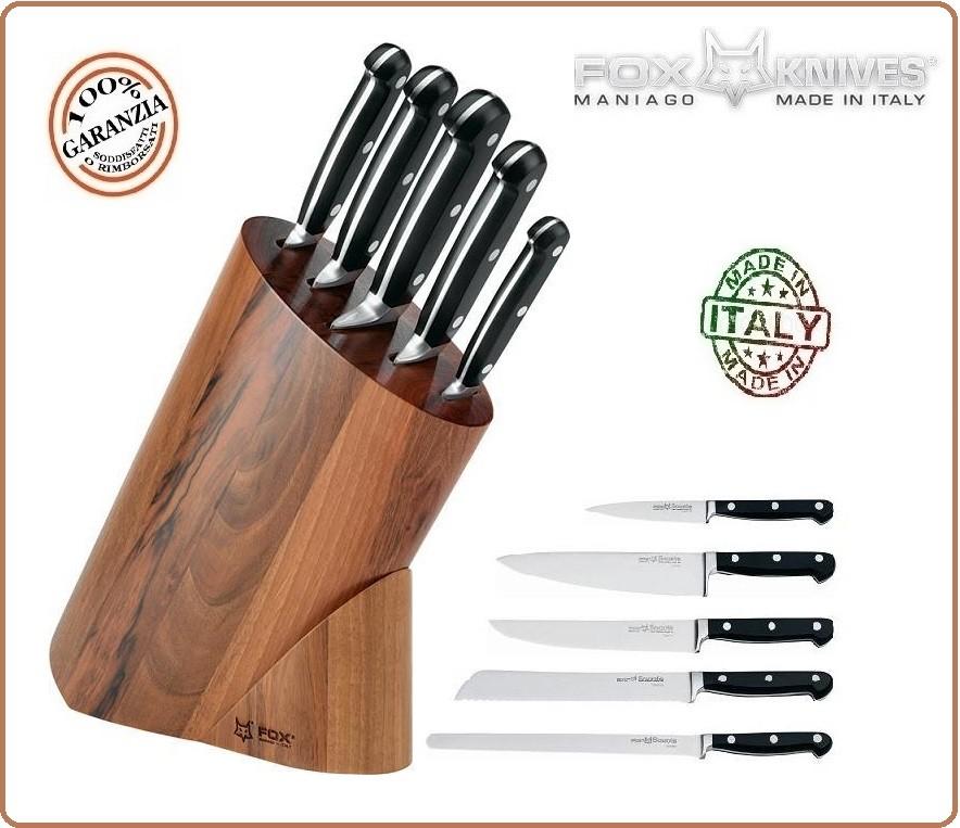 Ceppo da cucina forgiato 5 coltelli professionali ceppo - Coltelli da cucina professionali ...