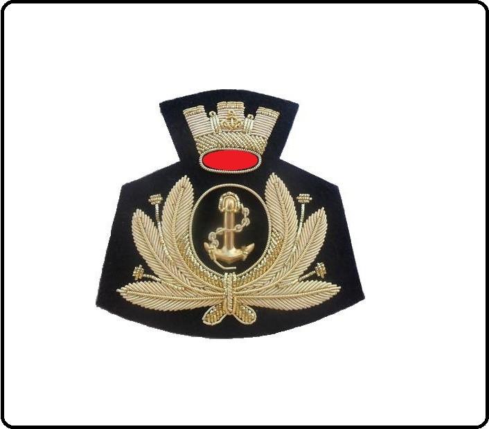 Fregio Canuttiglia Berretto Marina Militare Italiana Ammiraglio Di