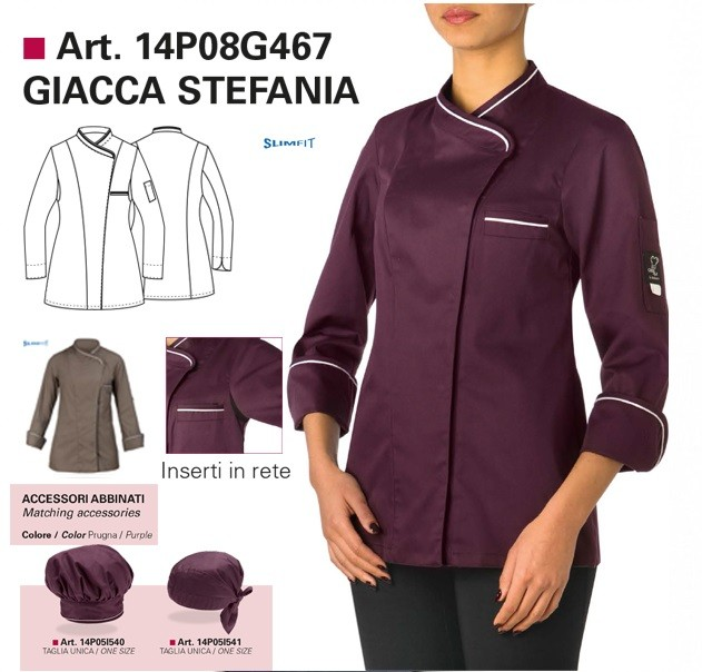 giblor's giacca cuoco donna