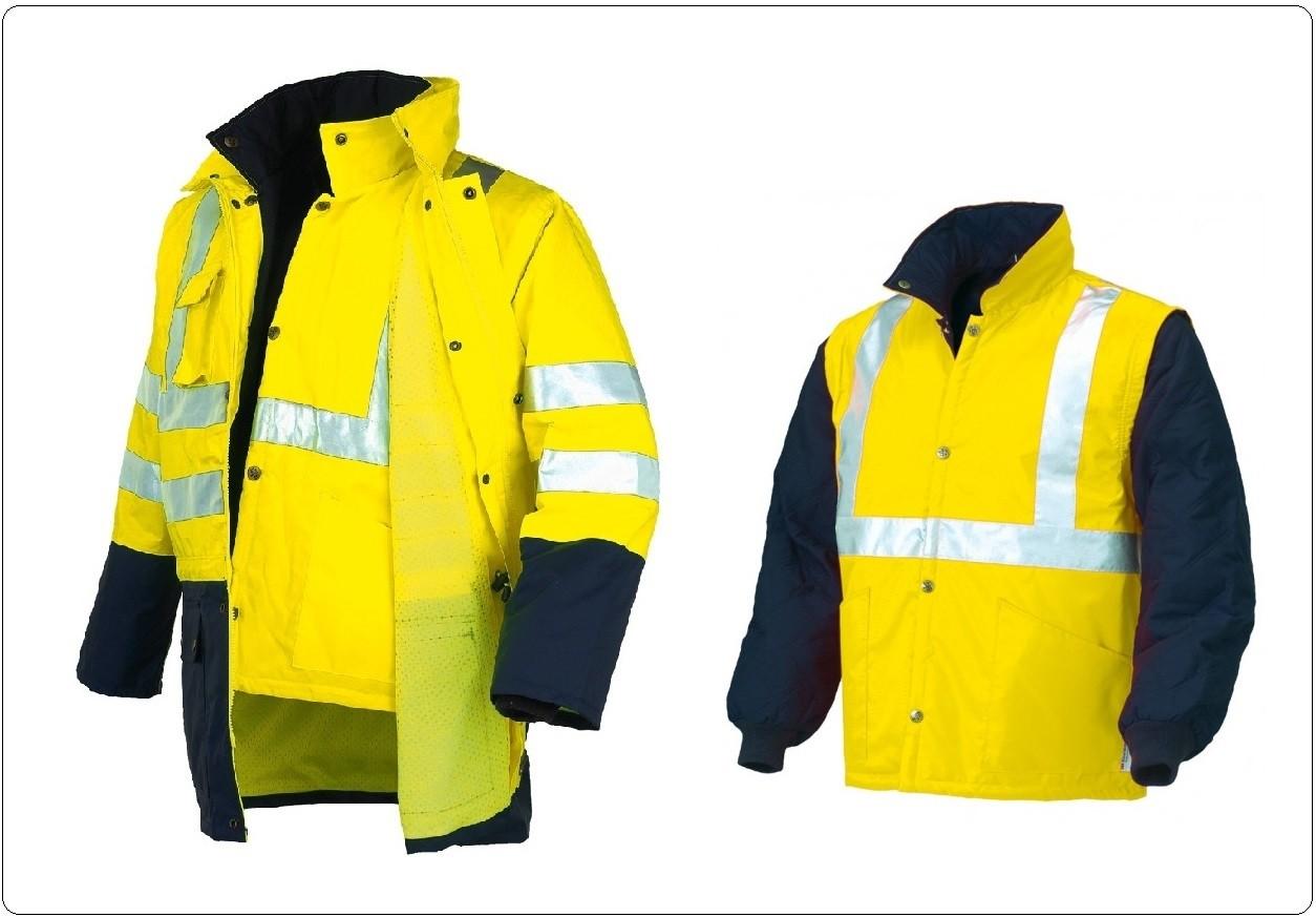 giacca bicolor giallo blutriplo uso starter protezione civile soccorso  art.04631n  non solo divise