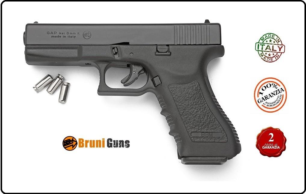 Bruni Pistola GapGlock Nero 8 mm a Salve Art.RP02215
