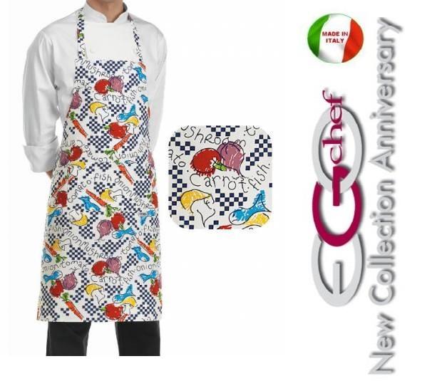 grembiule cucina pettorina con tascone cm 90x70 fantasy art.704102 ... - Grembiuli Cucina Particolari