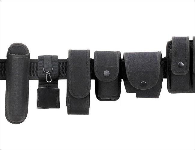 Cinturone Completo fondina porta manette caricatore torcia guanti accessori MFH