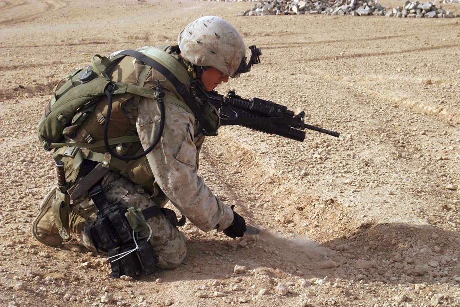 Coltello Combattimento Militare Fodero Cuoio Ka Bar Usmc