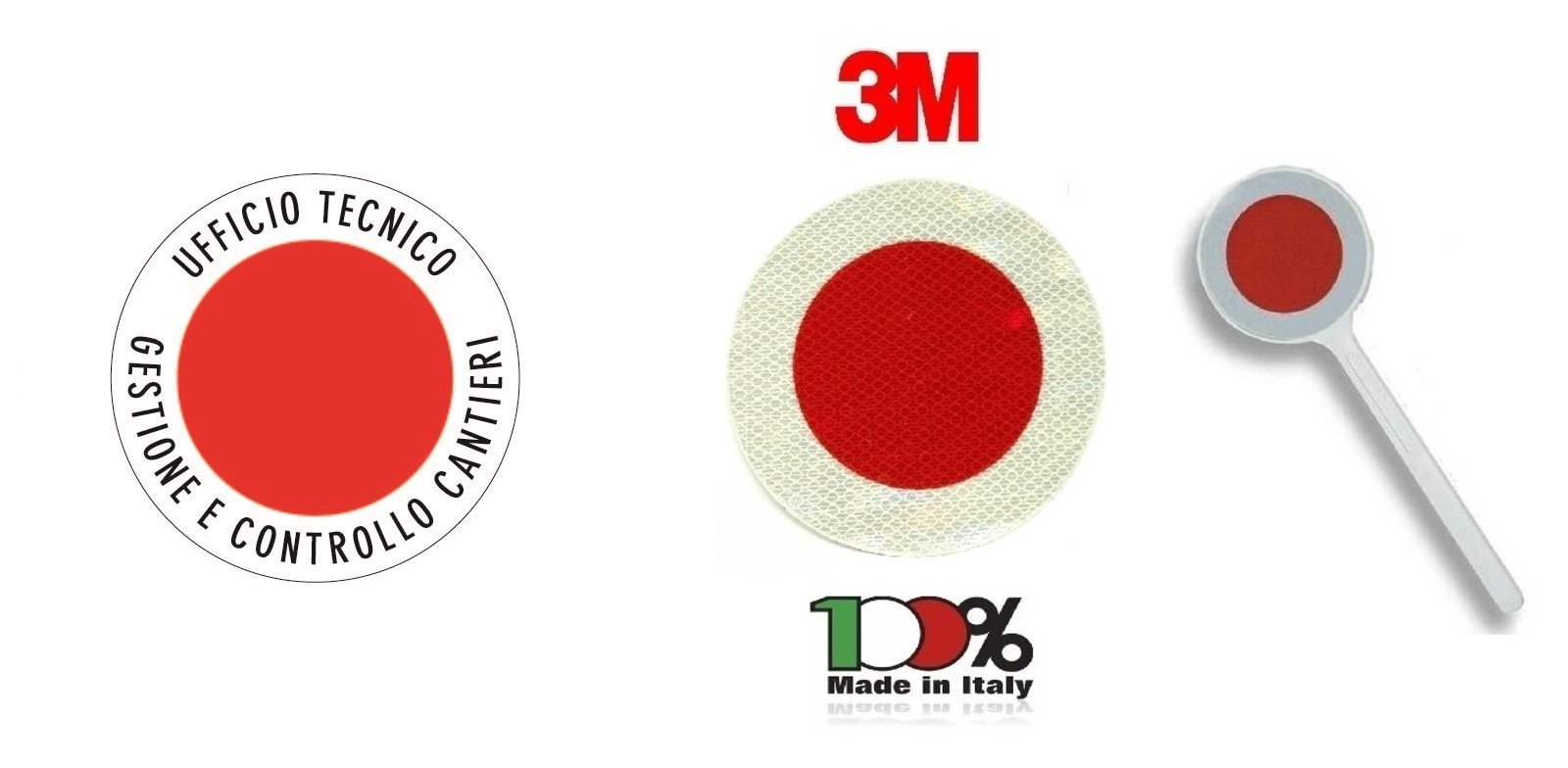 Paletta Segnaletica Ambo le Parti Rosse UFFICIO TECNICO ...