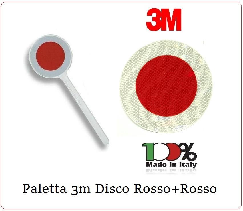 PALETTA SEGNALETICA STRADALE BIFACCIALE ROSSO//VERDE DIAM 15 CM