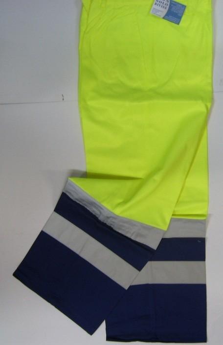 pantalone pantaloni bicolor giallo blu alta visibilità modello protezione  civile art.8530  non solo divise