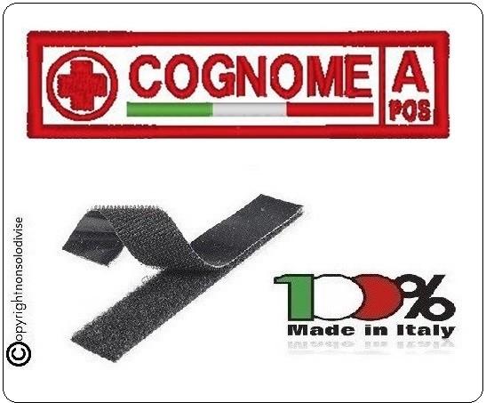 Patch Targhetta Nominativa Con Gruppo Sanguino Croce Rossa Italiana