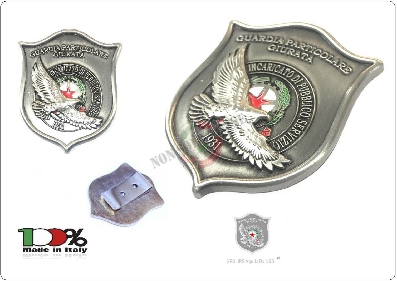 AQUILA® Guardia Portafoglio Portadocumenti Nero Placca Staccabile GPG I.P.S