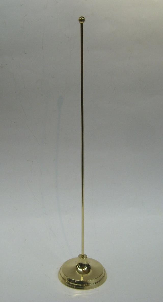 Piantana con asta in ottone lucidato da tavolo per ufficio art brk sb - Porta bandiere da tavolo ...