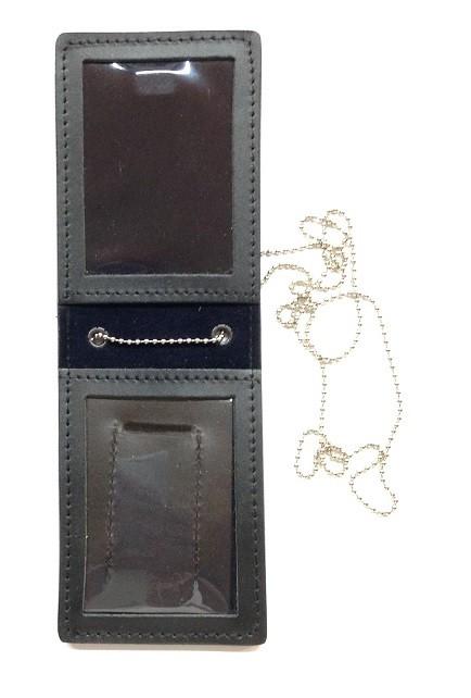 codice promozionale e4b60 175bd Portaplacca Porta Distintivo Portafoglio in Cuoio Doppio Uso ...