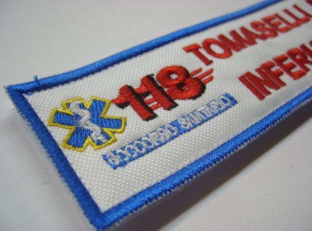 Eccezionale Coppia Patch Targhette con Velcro 118 Soccorso Sanitario  YD14