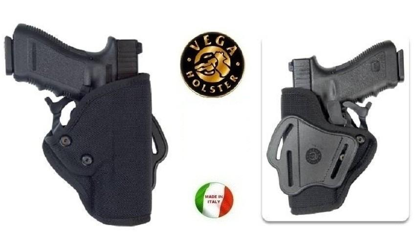 Fondina Vega Holster cordura fianco ST211 per glock 19 23 25 32 38 Walther p99