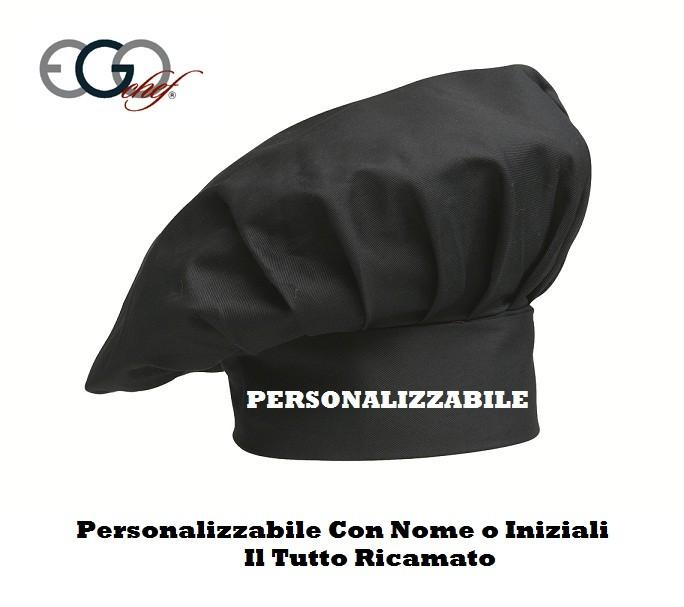 enorme sconto prezzi al dettaglio di alta qualità Cappello Cuoco Chef EGO CHEF Italia Colore Nero Art.Y660002