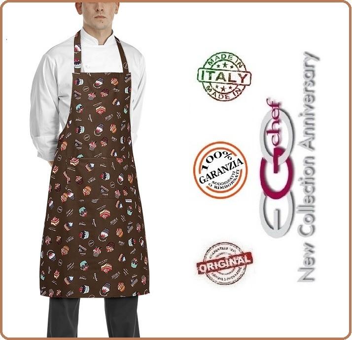 grembiule cucina pettorina con tascone cm 90x70 sweets dolci ... - Grembiuli Cucina Particolari